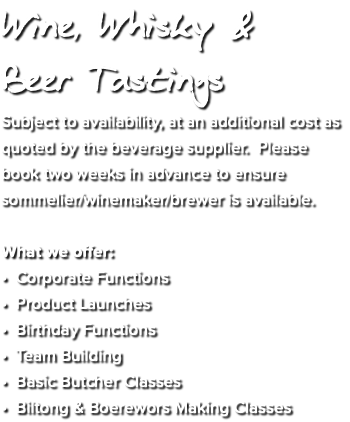 Wine, Whisky & 